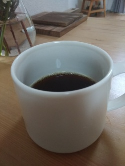 自分で焙煎したコーヒー